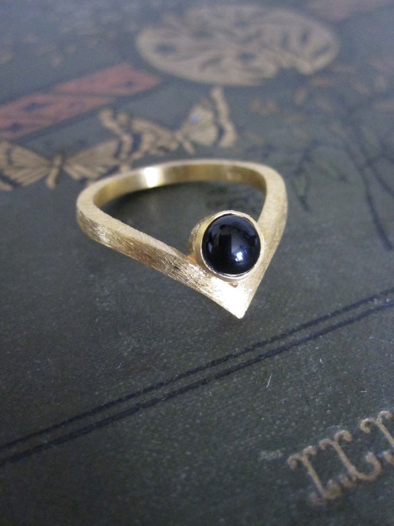 Chevron ring - Onyx