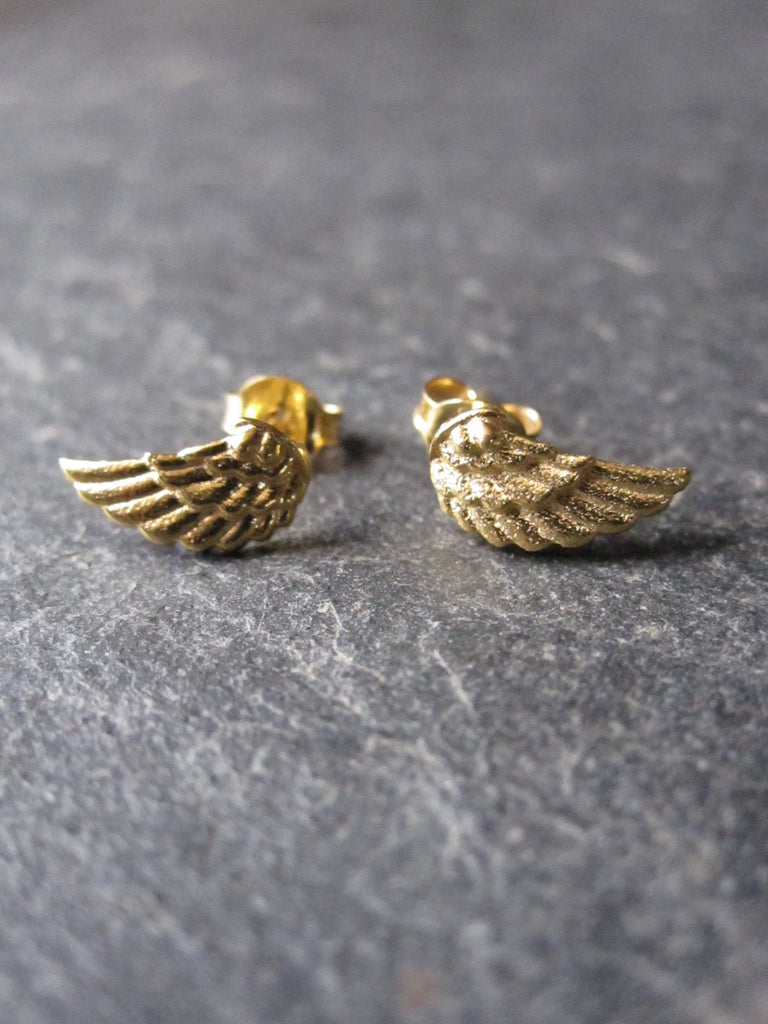 Small Wing Studs - gold