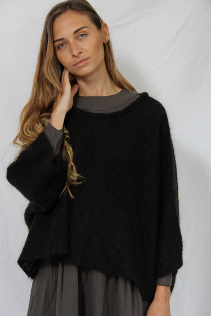 WDTS - Mohair sweater- black
