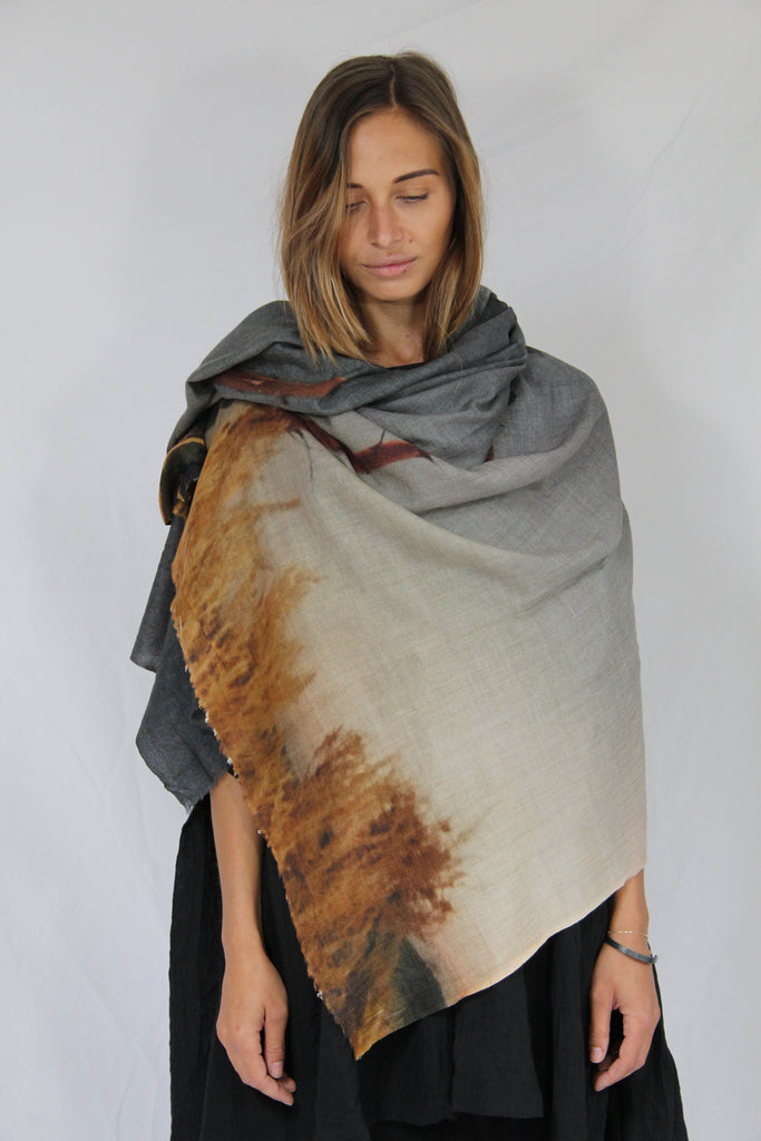 WDTS 100% Cashmere shawl - Avores