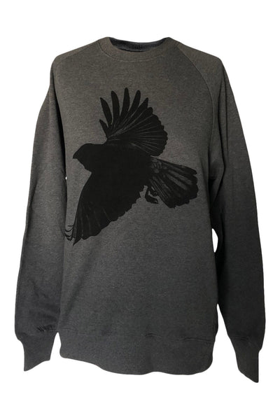 Window Dressing The Soul Crow Dark Grey Sweater