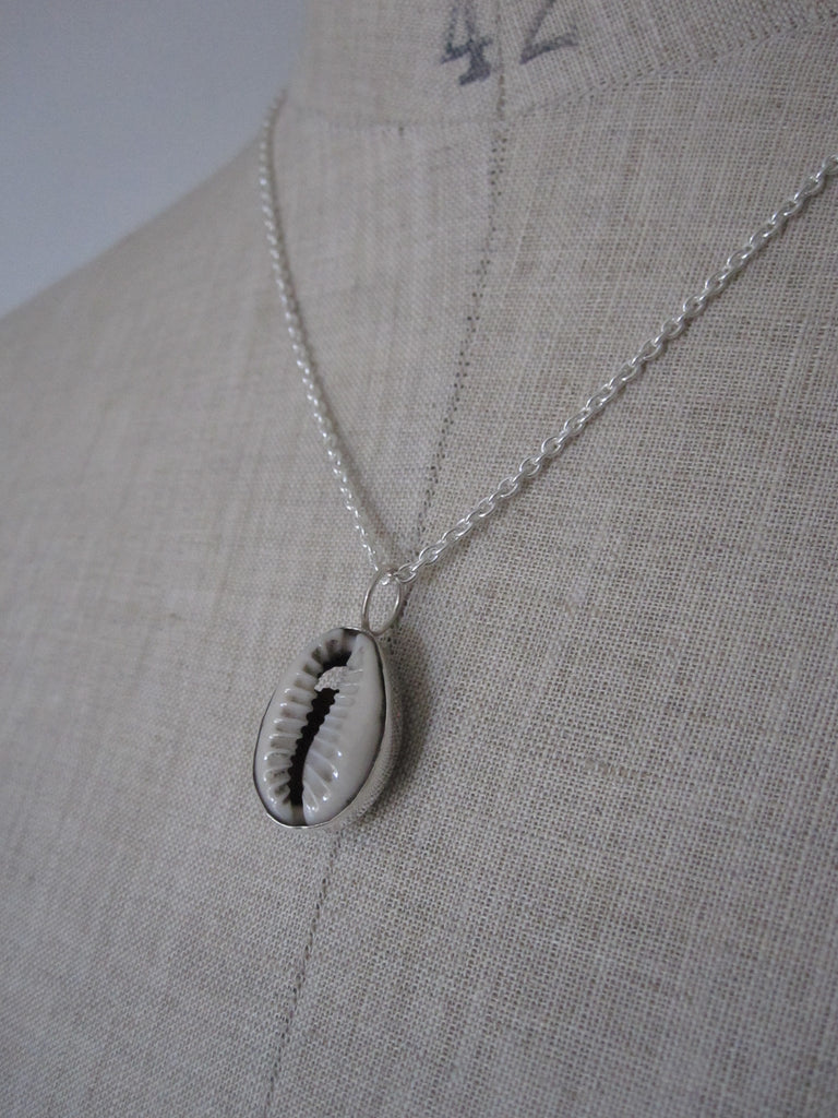 925 Silver Cowrie Shell Necklace