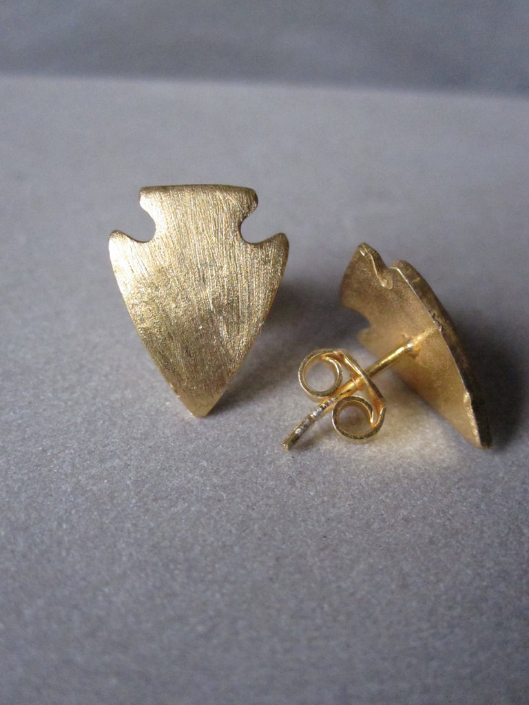 Arrowhead earrings - gold plated