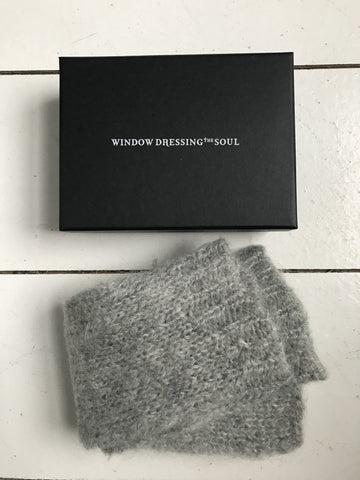 WDTS - Long Arm warmers in Grey Mohair Wool