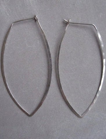 925 Silver Thin earrings - oval
