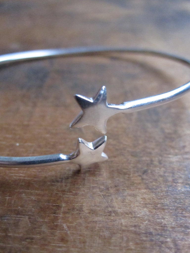 925 Silver Star open bangle