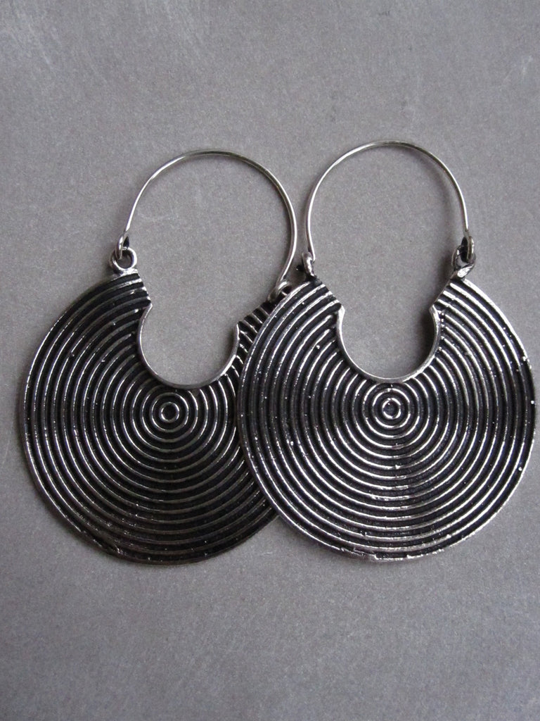 925 Silver round nomadic earrings
