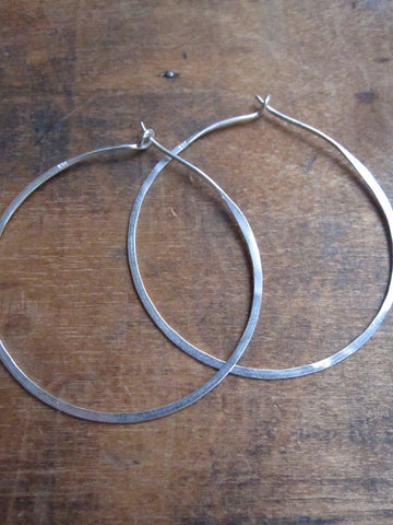 925 Silver Thin earrings - hoop