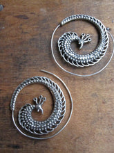 925 Silver Peacock earrings