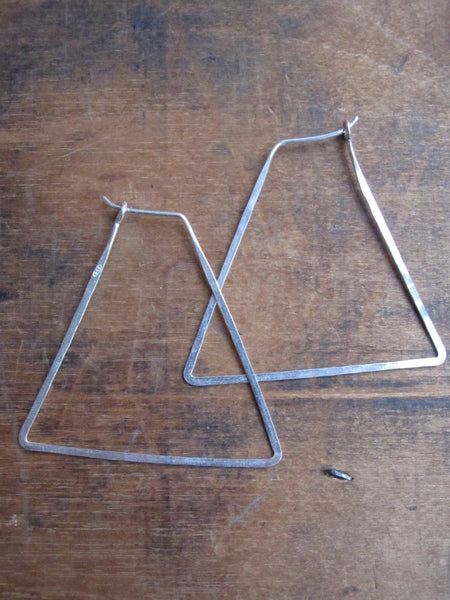 925 Silver Thin earrings - Triangular