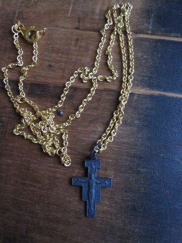 WDTS Oxidised cross with Jesus