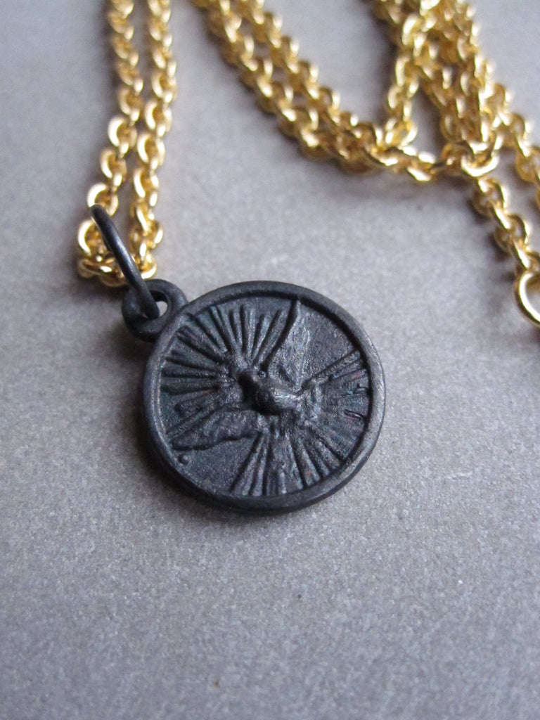 WDTS Dove of Peace necklace - Oxidised  pendant
