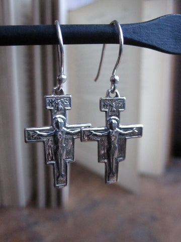 WDTS Cross with Jesus earrings
