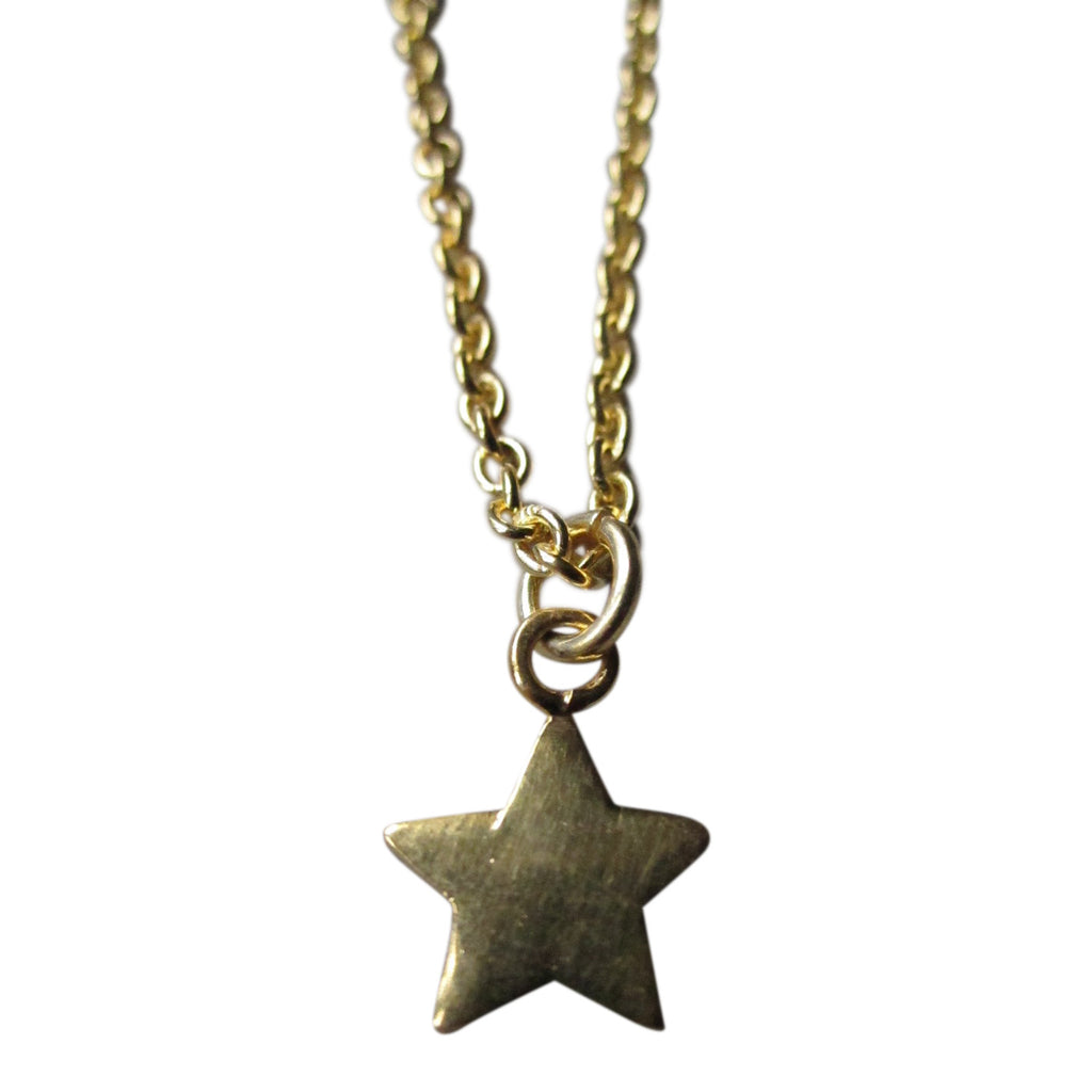 925 Silver star necklace - gold plated