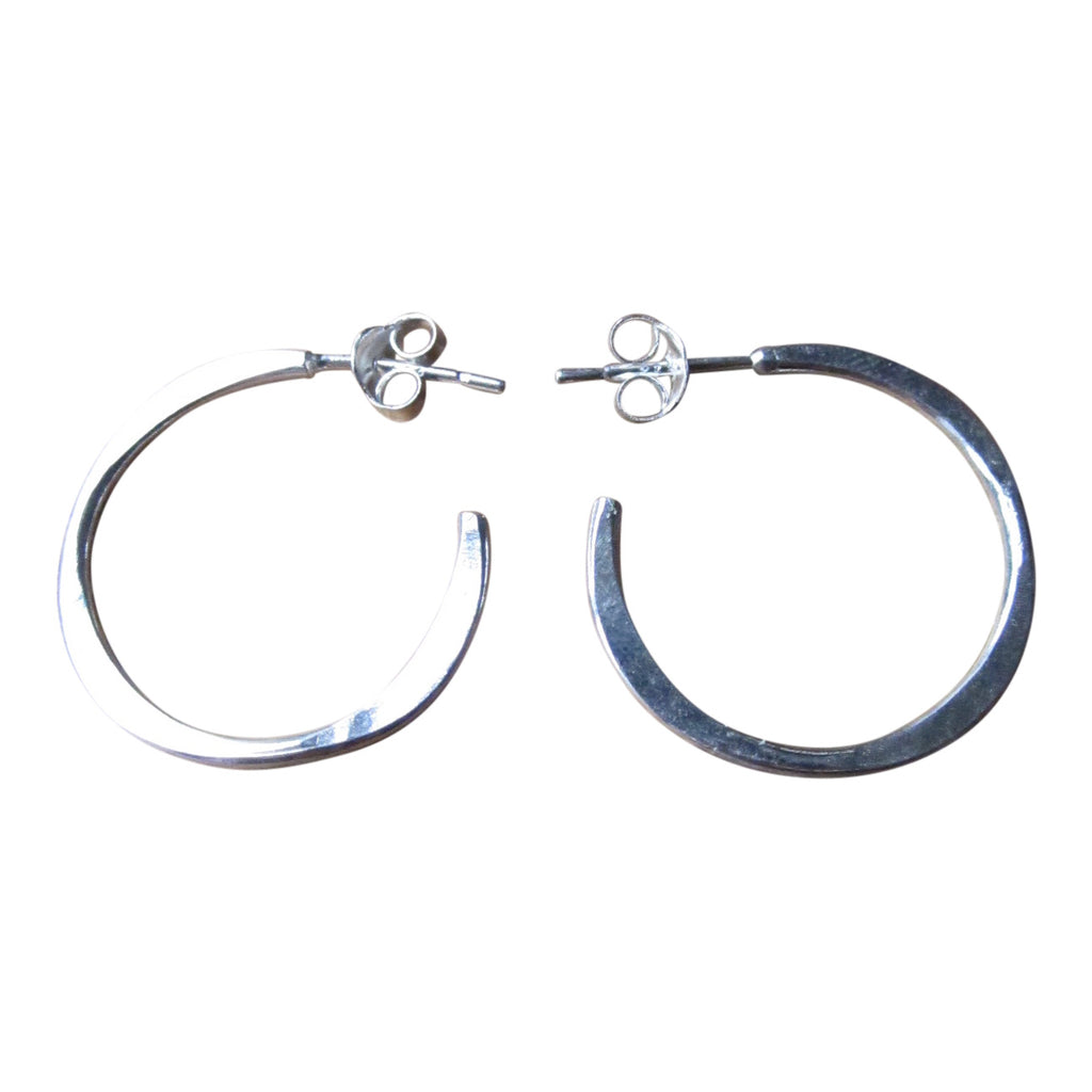 925 Silver Irregular Small Hoops