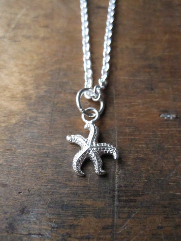 925 Silver starfish necklace