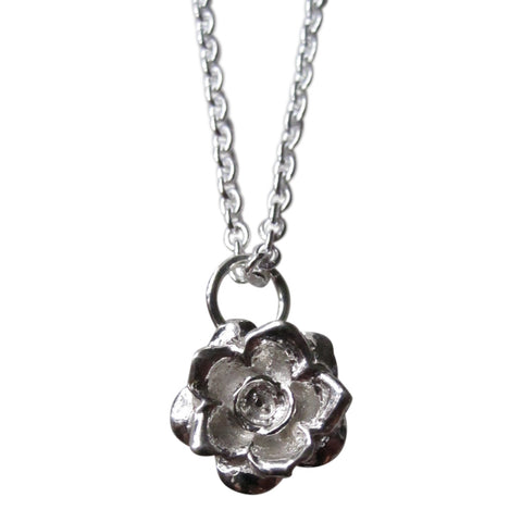925 Silver Rose Necklace