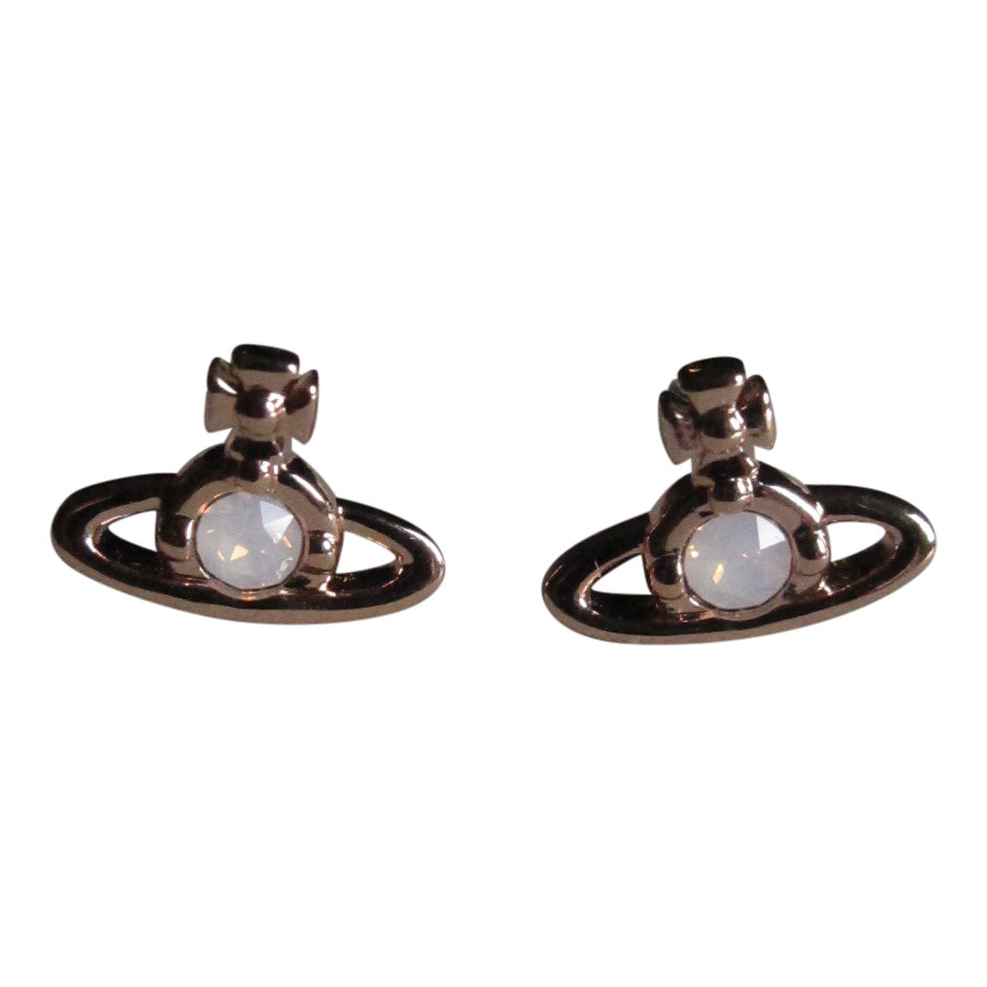 Vivienne Westwood Nano Solitaire Earrings - Pink Gold Rose Water