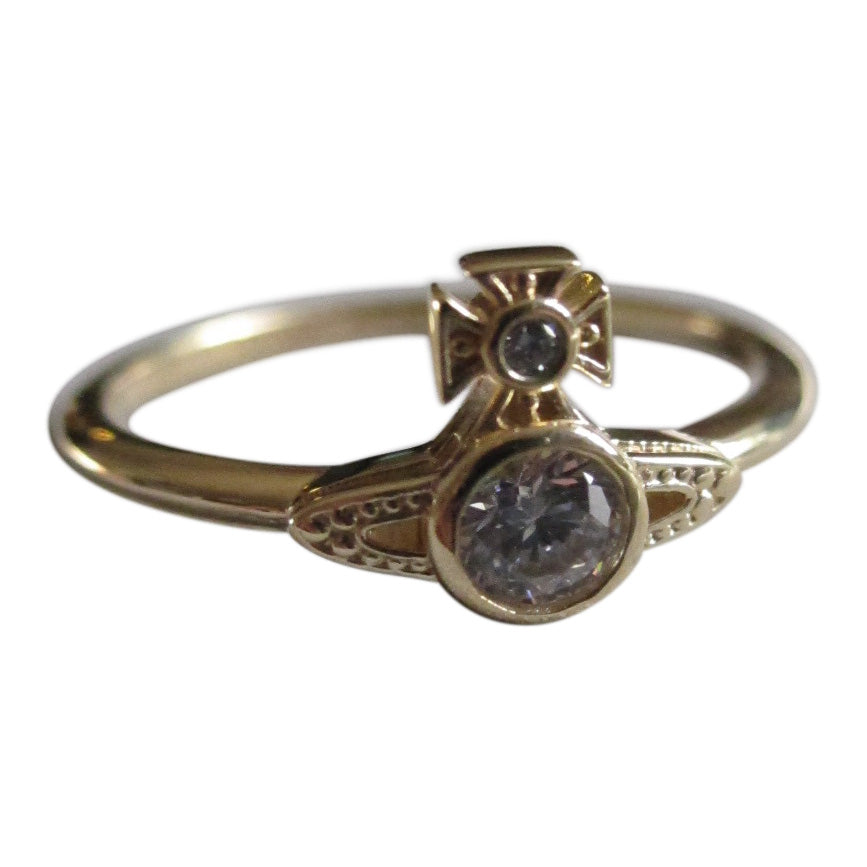 Vivienne Westwood London Orb Ring - Gold/white CZ