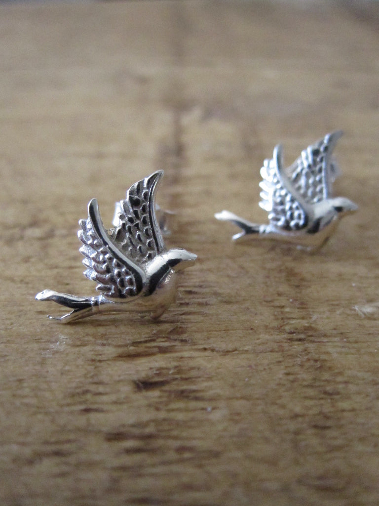 CollardManson  925 Silver Little Bird Studs