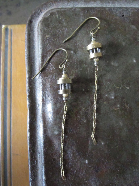 Clockwork earrings