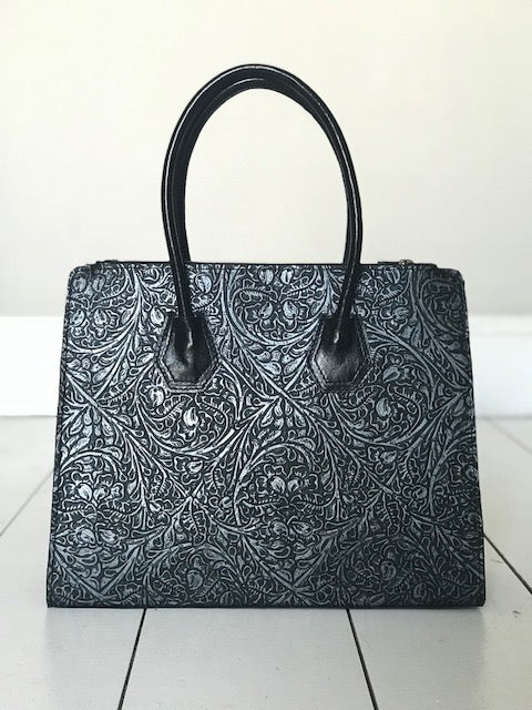 CollardManson Leonie Bag - Silver tooled