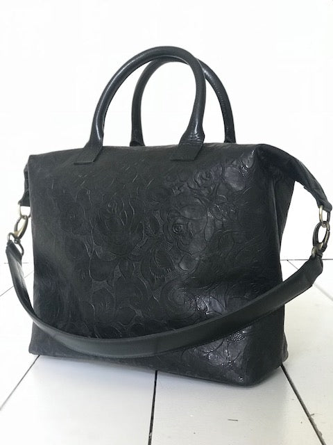 CollardManson Elke Bag - Black Floral