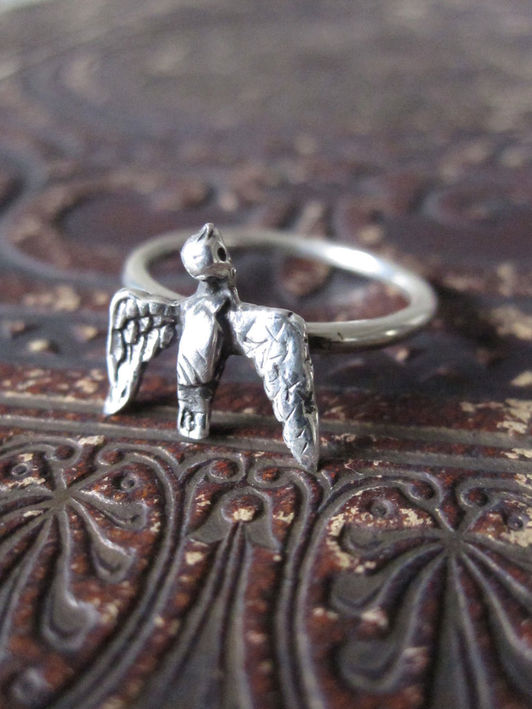CollardManson 925 Silver Swallow Ring