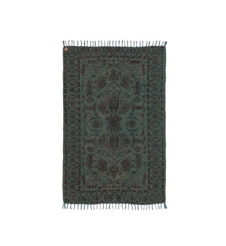 Jute and cotton printed rug