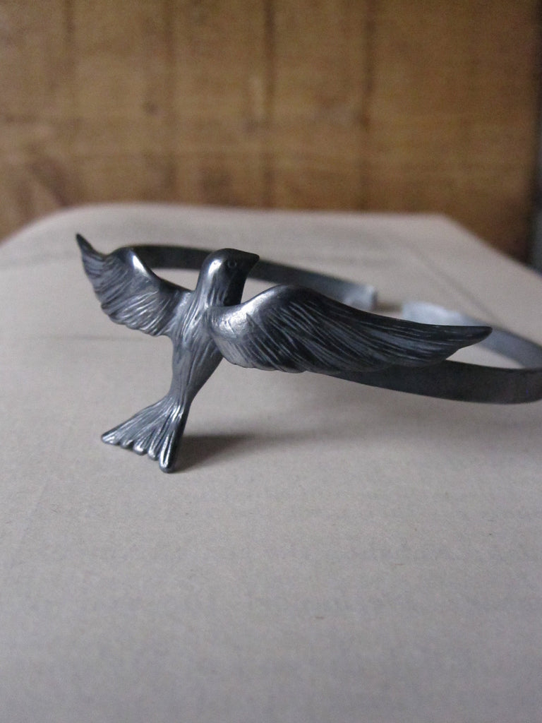 CollardManson 925 silver flying bird bangle-oxidised