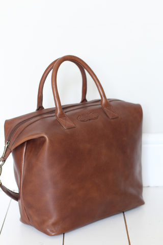 CollardManson leather Bag - Elke Tan