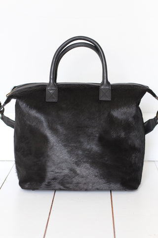CollardManson leather Bag - Elke Black hair on.