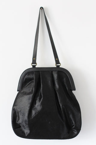 CollardManson Anya shoulder bag - Black Hair on