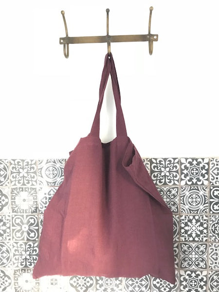CollardManson Linen Nomad bag Red