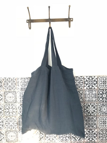 CollardManson Linen Nomad bag Japanese Blue