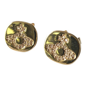 Vivienne Westwood Milano stud Earrings - gold tone