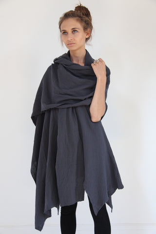 CollardManson Cotton Scarf- Navy