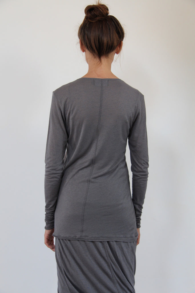 Window Dressing The Soul- Star Charcoal long sleeved Top