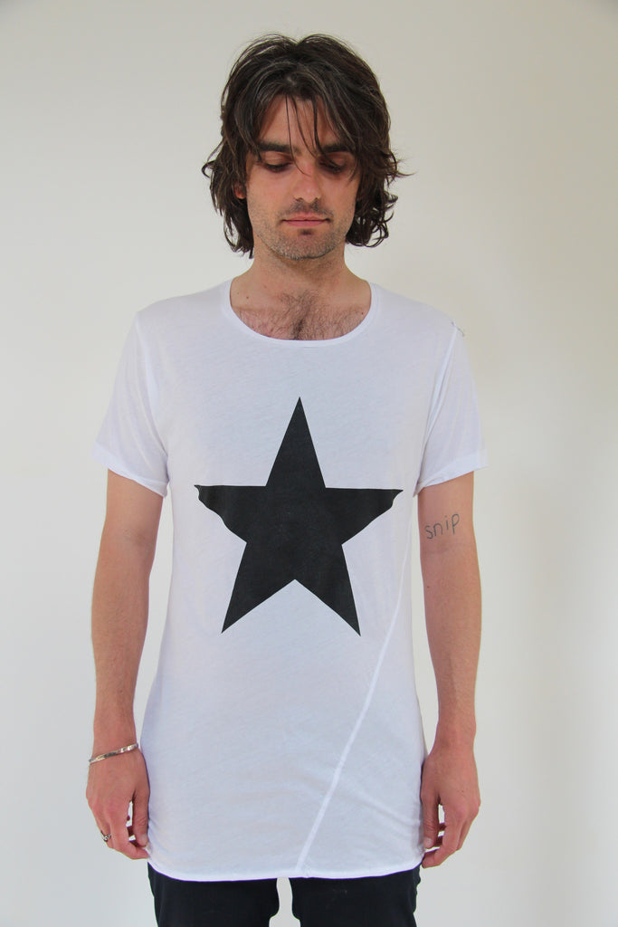 Window Dressing The Soul -  Star White Twist T-Shirt