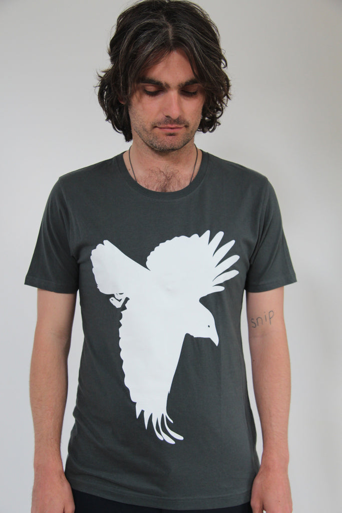 Window Dressing The Soul Silhouette Tee - Charcoal