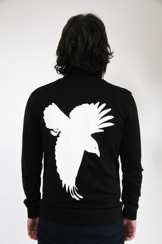 Window Dressing The Soul Bomber Jacket - Black With Crow On Back