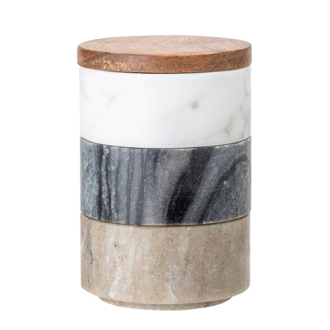 Gatherings Jar with Lid- Multi Marble