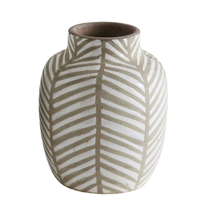 Deco Vase, White, Terracotta