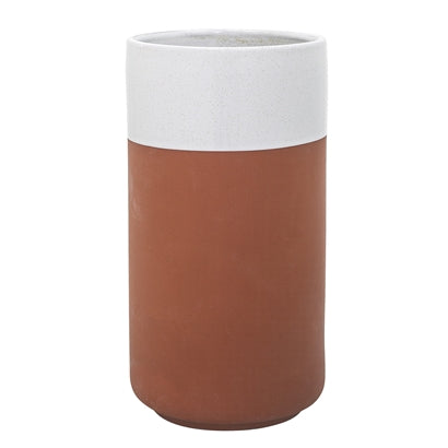 Evelyse Wine Cooler - White, Teracotta