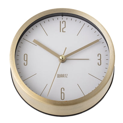 Table Clock, Gold, Aluminum