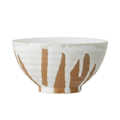 Camellia Bowl, White, Stoneware, set of 2
