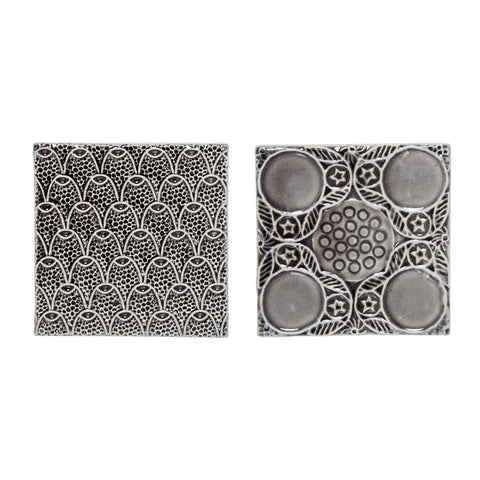 Deco Tiles, Grey, Stoneware