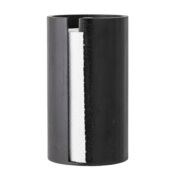 Kitchen Paper Stand Black Paulownia