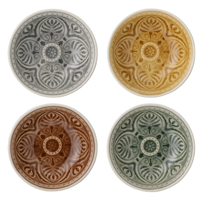 Rani Bowl, set of 4, Multi-color, Stoneware