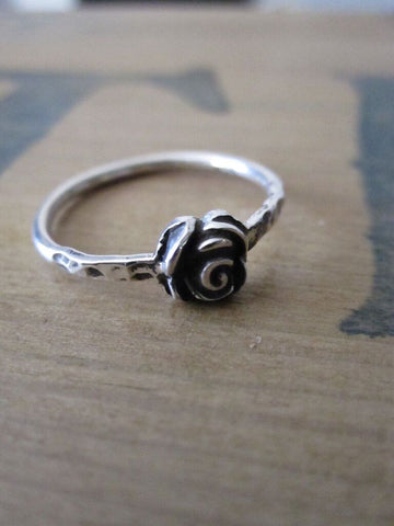 CollardManson 925 Silver Rose Ring